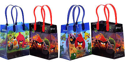 6 Pcs Angry Birds Licensed Small Party Favor Goodie Loot Bags ](Angry Birds Party Favours)