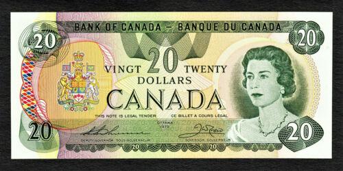 Canada 1979 QEII $20 BC-54c Thiessen/Crow Pick-93c UNC