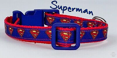 Superman cat or small dog collar 1/2
