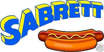 Sabrett Hot Dogs Concession Decal 10 Hotdog Restaurant Food Truck Vinyl Sticker