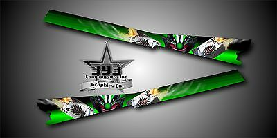 Arctic Cat M7 M8 M1000 Crossfire Graphics Wrap Tunnel Evil Joker Green 2008-2011
