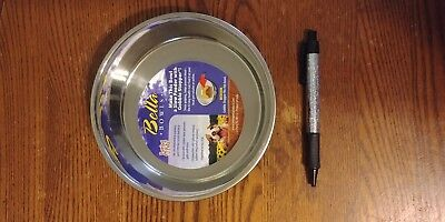 Loving Pets Bella Bowl Metallic Blueberry Small   Stainless Steel Dish for Dogs