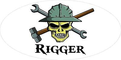 3 - Rigger Hand Skull Oilfield Roughneck Hard Hat Helmet Sticker H308