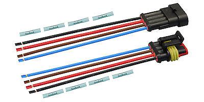 AMP Superseal Set Steckverbinder 4-polig H07V-K 1,50mm² Stecker Kabel Elektrik