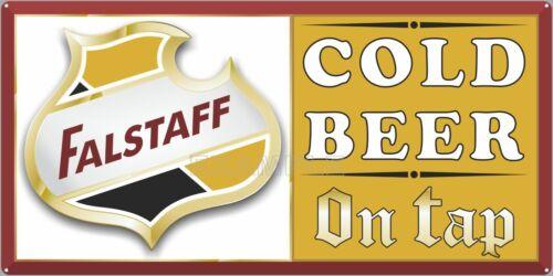 FALSTAFF BEER ON TAP BAR PUB TAVERN VINTAGE SIGN REMAKE ALUMINUM SIZE OPTIONS