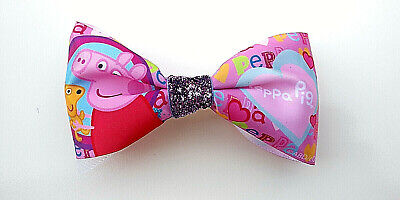 Peppa Pig French (PEPPA PIG Hair Bow-French Barrette- 4.5 X 2.5 in -Pink Multi Color)
