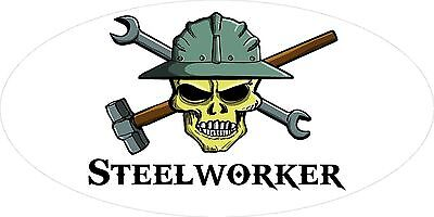 3 - Steelworker Skull Oilfield Roughneck Hard Hat Helmet Sticker H316