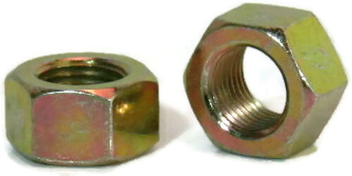 """Zinc Plated Grade 8 Steel Hex Nuts Yellow Finished Nuts - 1/4"""" to 2-1/2"""""""