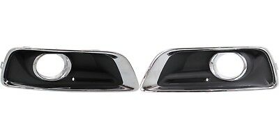 Front Bumper Fog Light Lamp Bezels Covers Chrome Set for 13-15 Chevrolet Malibu