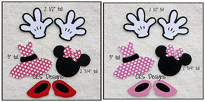 Die Cut Disney Minnie Mouse Hands Shoes Dress Scrapbook Paper Piecing Mickey CKS](Minnie Mouse Hands)