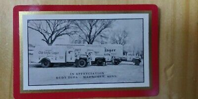 Heileman's Old Style Lager Delivery Trucks Photograph Playing Cards LaCrosse Wis