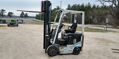 2014 Nissan Electric 4000lb Fork Positioners Side Shift Fork Truck Forklift