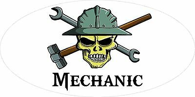 3 - Mechanic Skull Oilfield Roughneck Hard Hat Helmet Sticker H295