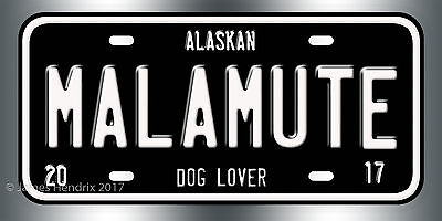 Alaskan Malamute Dog Breed - Alaskan Malamute Dog Breed License Plate  Red Blue Green Yellow Black