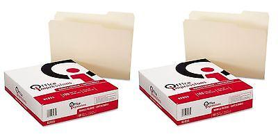 2PK 100 Office Impressions MANILA FILE FOLDERS Top-Tab1/3Cut Letter Size Box Lot