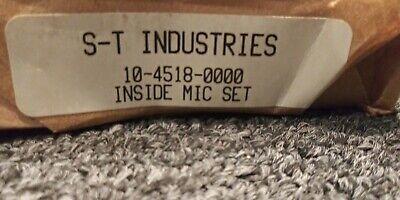 Schurr Tumico 10-4518-00 Tubular Inside Micrometer Set Usa Made