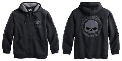 Harley-DavidsonMen's Hooded Skull Sweatshirt Gr. L - Herren Hoodie, Grau