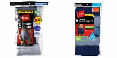 Hanes Men's Tagless Boxer Briefs 10-PACK COMFORTSOFT Underwear S, M, L XL
