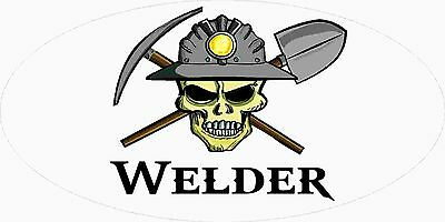 3 - Welder Miner Skull Mining Tool Box Hard Hat Helmet Sticker Ohio Coal H4111