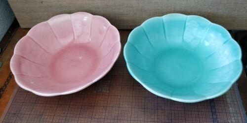 2 Serving Bowls -- W S George PETAL PETALWARE Georgette  -- 1958