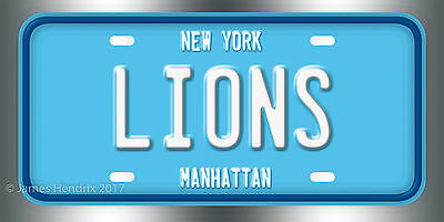 Columbia University Lions Manhattan New York Ncaa License Plate