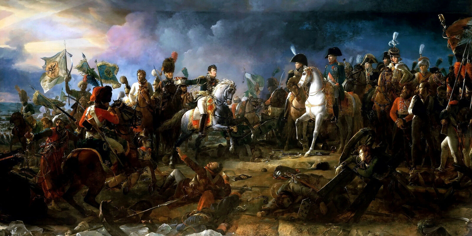 Napoleon the Battle of Austerlitz Painting by Francois Gerard Art Reproduction