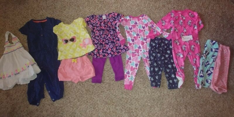 11 Pc Lot - Darling, Adorable, Cute Baby Girl - 18 Months - Spring, Summer