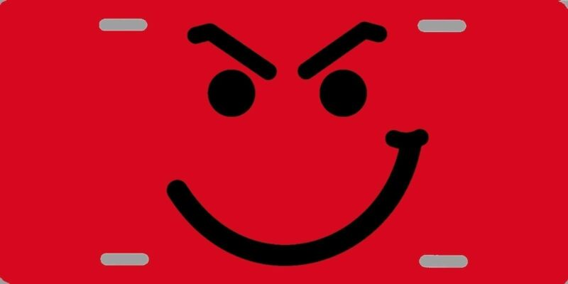 "Bon Jovi Smirky Guy Color Logo License Plate 12""x6"" HIGH QUALITY ALUMINUM"