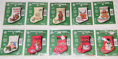 New Nmi Cross Stitch Kit Winter Christmas Holiday Stocking Ornament   You Choose