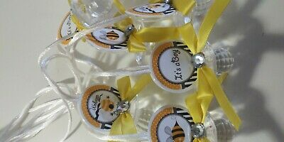 12  Boy Bumble Bee Baby Shower Pacifier Necklaces Favors