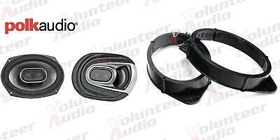 Polk Audio MM692 6x9 3-Way Coaxial Speakers with Adapters Polk Audio 150W (Best 6 By 9 Speakers)