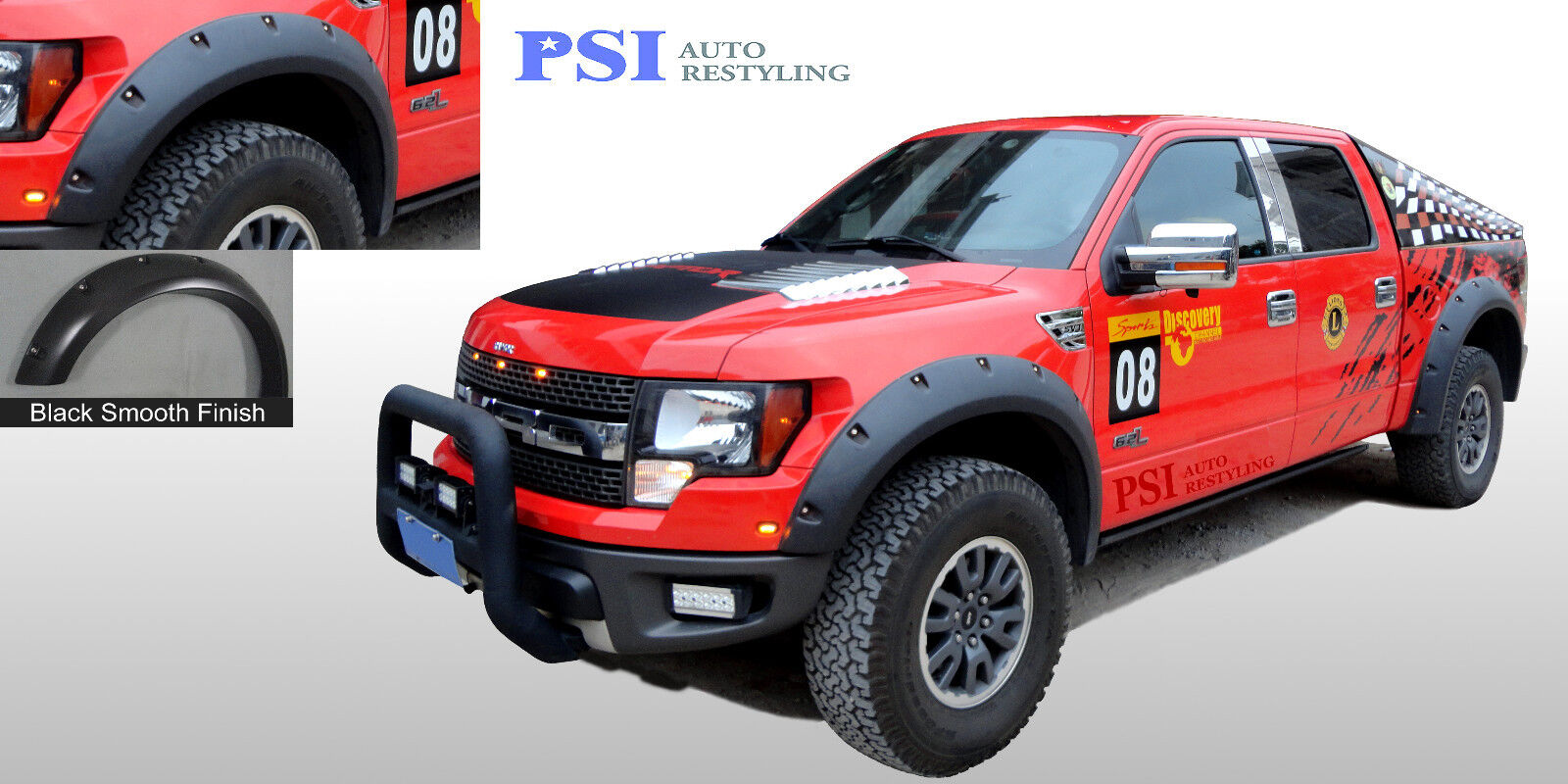 black paintable pocket rivet bolt fender flares 2010 2014 ford f 150 raptor only - Black Ford F150 Raptor 2014