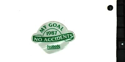 NICE PEABODY  COAL CO COAL MINING STICKER # 652