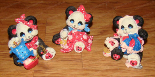 Panda Collection (Pandannas by enesco, 1994) Sewing, Sailing, Wrapped in Love
