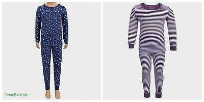 ze Blue White Christmas Snowflake Puple Striped Pyjama Pj's (Baby Girl Christmas Pyjamas)