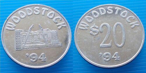Authentic WOODSTOCK '94 $20.00 Money / Coin / Token