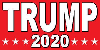 Trump 2020 - Vinyl Banner Sign - 24 36 48 60 Donald Red