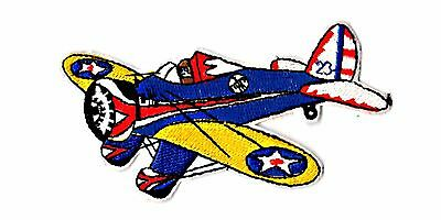 Peashooter airplane medium size iron on patch
