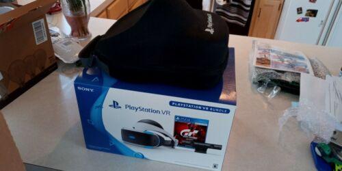 Sony PlayStation PS4 VR Virtual Reality Headset Bundle Gran Turismo + HARD CASE