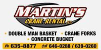 Martins Crane Rental Boom Trucks