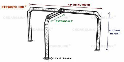 Trade Show Booth Trusses Dj Stage 14 X 8 X 6.5 Metal Truss Triangle Trusses