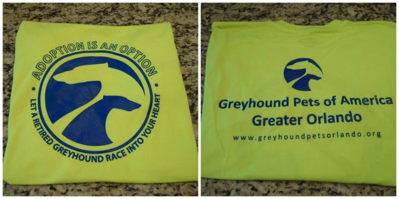 Greyhound T Shirt Size  LARGE (Greyhound Adoption)