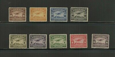Stamps Costa Rica lot of air mail stamps unused with gum and hinge