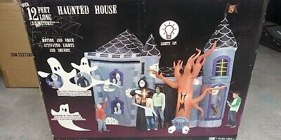 Gemmy halloween inflatable haunted house 12' foot kids decoration