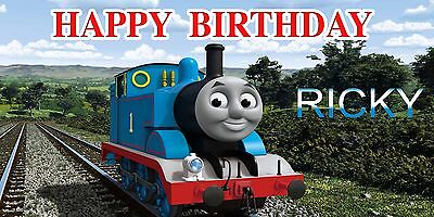 Birthday banner Personalized 4ft x 2 ft Thomas & Friends - Thomas Birthday Banner