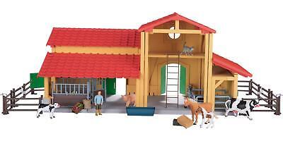 Bauernhof mit Pferdestall für Spieltiere 40-tlg. Kinderspielzeug Figuren Tiere