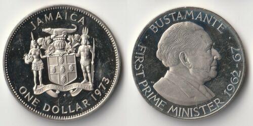 1973 Jamaica 1 dollar proof coin