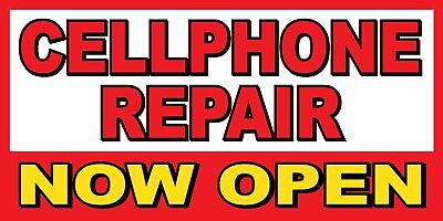 Cellphone Repair Now Open Banner Sign - Sizes 24 48 72 96 120