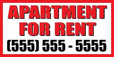 2x4 Apartment For Rent Custom Number Sign Vinyl Banner House Condo Home Studio