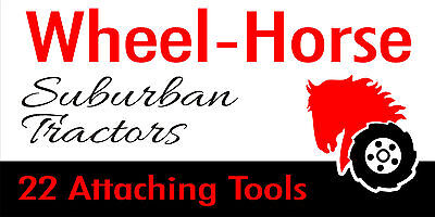 Photo WHEEL HORSE SUBURBAN TRACTORS BANNER - 2` x 4` Banner with grommets
